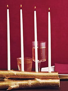 This Birch Candle Holder is serene and luminous - a great Thanksgiving and holiday centerpiece.