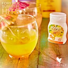One squeeze of JOOST Pineapple for a tropical twist in your Aloe drink. #ForeverSummerClassics