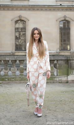 Kristina Bazan #Kayture #KristinaBazan, #streetstyle #pfw Paris Fashion Week, outside Dior, image by StunningStreetstyle