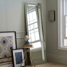 Parsons Floor Mirror – Mirrored | west elm - oh how I would love to replace the mirror in my bedroom with you!