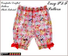 Easy GIRLS PANTS PATTERN, Chloe Shorts Pattern, Sewing pdf Patterns for Children, Baby, Toddler, E Book, Tutorial, 5 Berries