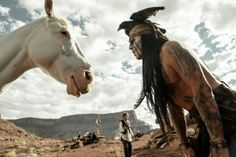"""THE LONE RANGER: """"Can't tell whether horse is stupid, or pretending to be stupid."""""""