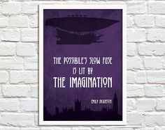 Steampunk Art Print Poster - The Possibles Slow Fuse - DIGITAL DOWNLOAD