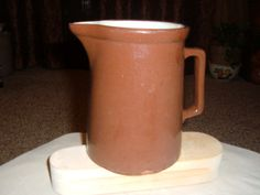 Vintage Weller  Redware Brown Pitcher by thecrowNcat on Etsy, $19.50