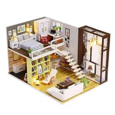 Hot Diy Romantic Glass House 3d Miniature Assemble Model Creative Diary Building Dollball Kits With Funitures Festival Gifts Architecture/diy House/mininatures