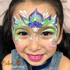 "263 Likes, 13 Comments - Vanessa (@colormefacepainting) on Instagram: ""This little girls was over the moon happy with her princess look! Just love what the…"""