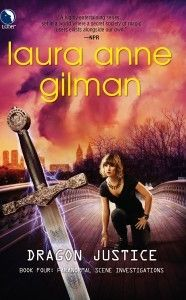 Dragon Justice (Paranormal Scene Investigations #4) by Laura Anne Gilman. Selected by @Kristi C.