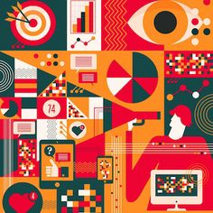 Amongst them are public speakers, market researchers, accountants and fashi Motion Design, Best Instagrams To Follow, Instagram Design, Flat Illustration, Illustrations And Posters, Design Thinking, Interactive Design, Geometric Art, Graphic Design