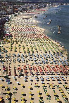 Italy. Rimini beach // by Andreas Gursky