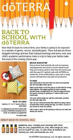 Back to School with dōTERRA: Here's a fun DIY satchel made with dōTERRA essential oils! by annabelle