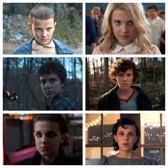 Millie Bobby Brown (Eleven) through out the seasons of Stranger things