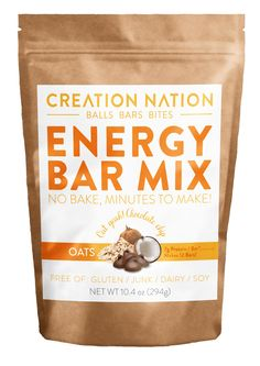 Oats Energy Bar Mix for easy homemade energy bars! No-Bake, Minutes to Make. Gluten-Free, Vegan recipes #HackYourSnack! Get 20% off with code PIN20 at checkout til May 1, 2016