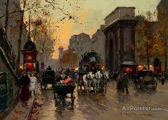 Edouard Léon Cortes,Porte St. Martin oil painting reproductions for sale