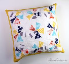 Ferris Wheel pillow by Leigh Laurel Studios for the Riley Blake fabric challenge