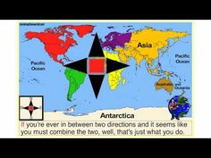 The Cardinal Directions Song & Video: Rocking the World 3rd Grade Social Studies, Social Studies Activities, Teaching Social Studies, Teaching Map Skills, Teaching Maps, Student Teaching, Teaching Science, Teaching Resources, Teaching Ideas