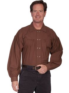 Mens Western Shirt Collection: Scully Rangewear Pullover Double Button Placket