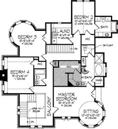 Victorian 2 story. Possibly make the left bath a Jack and Jill with access from both bedrooms. Switch plumbing to right hand side.