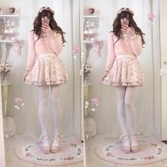 Himekaji Liz Lisa Pastel Goth Fashion, Kawaii Fashion, Pink Fashion, Fashion Outfits, Fashion Ideas, Dolly Fashion, Quirky Fashion, Cute Fashion, Lazy Day Outfits