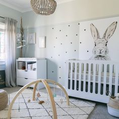 "little peanut mag on Instagram: ""This darling gender neutral nursery by @littledwellings is anything but boring! Breaking the molds of neutral with these moody blues + grays, we couldn't love it more. #nurserydecor #genderneutral"""
