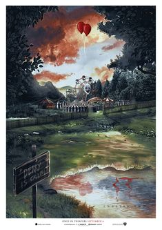 """""""It Chapter Two'"""" AMP by Pixel Warfare for via . Horror Drawing, Horror Art, Horror Posters, Film Posters, Scary Movies, Horror Movies, It The Clown Movie, Im A Loser, Le Clown"""