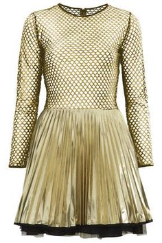 **Sabine Gold Dress by Jones and Jones - Brands at Topshop - Dresses  - Clothing