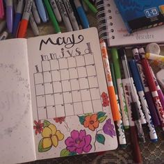 calendar may bullet journal