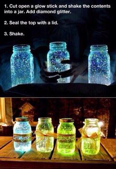 DIY glow in the dark jar light