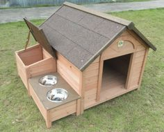 Amazon.com : DH-12 Dog House Outdoor / Indoor Wooden Dog House : Pet Supplies