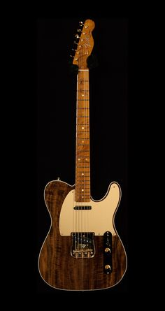 Fender Custom Shop Collection Artisan Telecaster in Claro Walnut Fender Bass Guitar, Acoustic Bass Guitar, Fender Guitars, Music Guitar, Cool Guitar, Ukulele, Guitar Logo, Fender Acoustic, Guitar Art