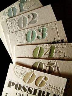 letterpress calendar Graphic design inspiration #numbers #typography