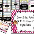 This 153 page file has everything you need to decorate your room.  Polka Dots are on all of the pages in the colors of pink, green, purple, yellow,...