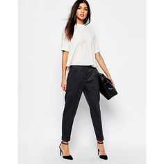 Mango Tailored Peg Pants (2.195 RUB) ❤ liked on Polyvore featuring pants, capris, green, peg pants, tailored fit pants, mango pants, peg trousers and white pants