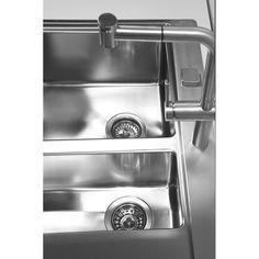 CHIUVETA DE BUCATARIE ALVEUS COLECTIA PURE 60 TEH LA NIVELUL BLATULUI DIN INOX,INCLUS SIFON POP-UP - Iak French Door Refrigerator, French Doors, Pop Up, Kitchen Appliances, Home, Diy Kitchen Appliances, Home Appliances, Popup, Ad Home