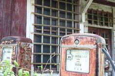 antique gas pumps, balsam NC