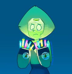 Peridot couldn't find her fingers and had to settle for lesser quality replacements