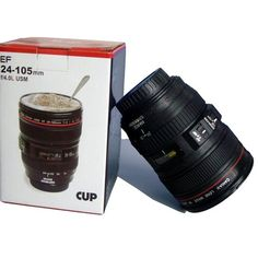 Camera Lens Mug Funny Cool Coffee Cup Travel Items Gear Stuff Accessories Supplies Products