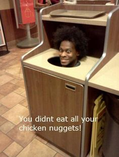 There's nuggets in here!  Hand me some BBQ sauce.