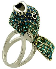 It's such a silly ring, but I tried it on, and now I think I want it. -->  GUESS Ring, Catfish Ring - Fashion Rings - Jewelry & Watches - Macy's
