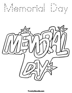 memorial day coloring page