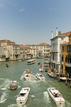 Grand Canal Boating ~ Venice, Italy