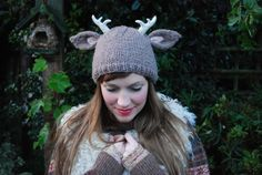 Deer with Antlers Hat by Tiny Owl Knits
