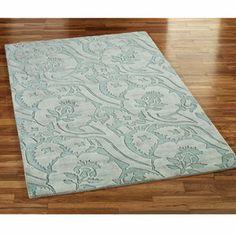 Seafoam colored area rug