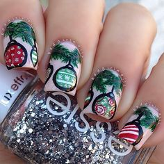 Today's #christmasnails❤️ Really, when I should be studying for finals is when I find... | Use Instagram online! Websta is the Best Instagram Web Viewer!