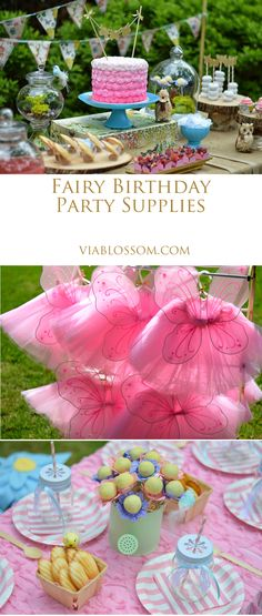 Enchanted Fairy Party Fairy Party Ideas for an adorable Woodland Fairy Party! Everything you'll need to throw a Fairy Party from tableware to fairy wings, tutus and more! Garden Birthday, Fairy Birthday Party, First Birthday Parties, Birthday Party Themes, Birthday Ideas, Cake Birthday, 5th Birthday, Birthday Music, Happy Birthday