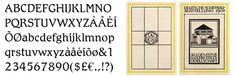 Firemní písmo Behrens-Antiqua z roku 1908