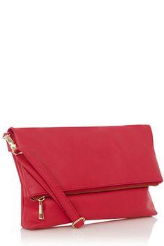 Celeste Leather Foldover Clutch Bag