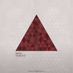 Vector triangle template free Free Vector