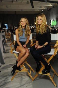 Candice swanepoel and doutzen kroes, models for Victoria's Secret