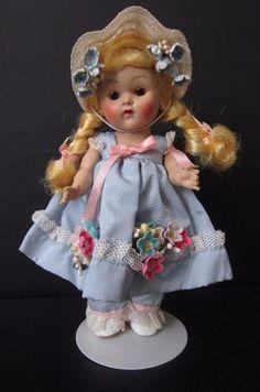 1953 Mistress Mary Vogue Ginny Doll PLW Blond Braids Near Mint Condition