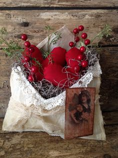 Primitive Valentines Love Letters Heart Envelope.